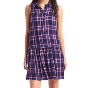Gap Women's Plaid Drop Waist Dress  (D15)